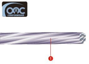 cable de aluminio con alma de acero